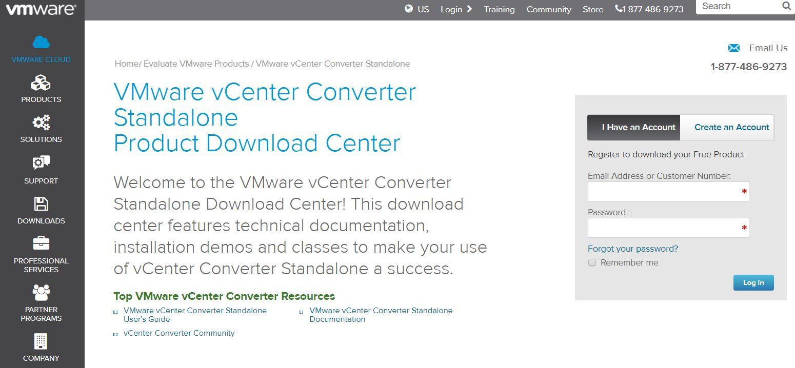 vmware login